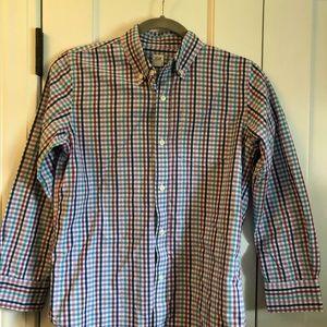 Boys Gap Plaid Button Down Shirt, Size 12